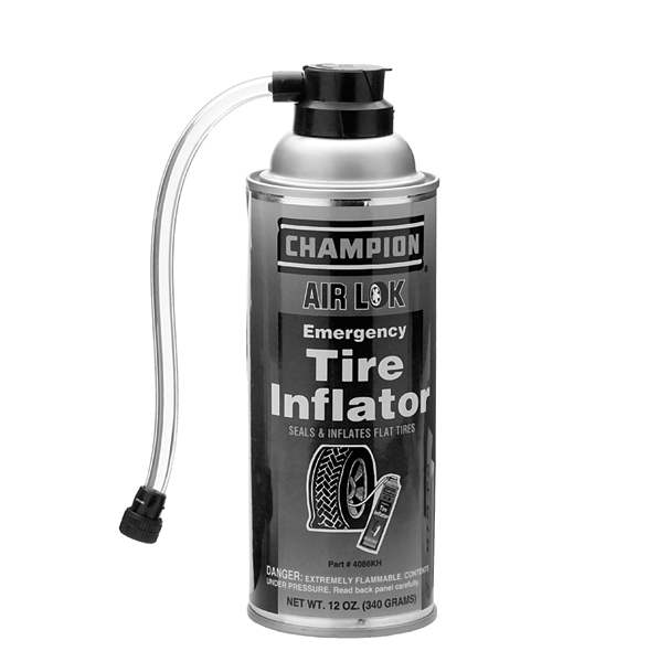 Tire Inflator with Hose 12 oz, Aerosol can / 4086KH