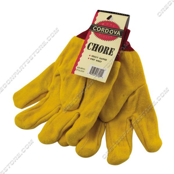 Cordova Gold Chore Winged Thumb Knit Wrist Gloves, QTY. 12 / 23101W