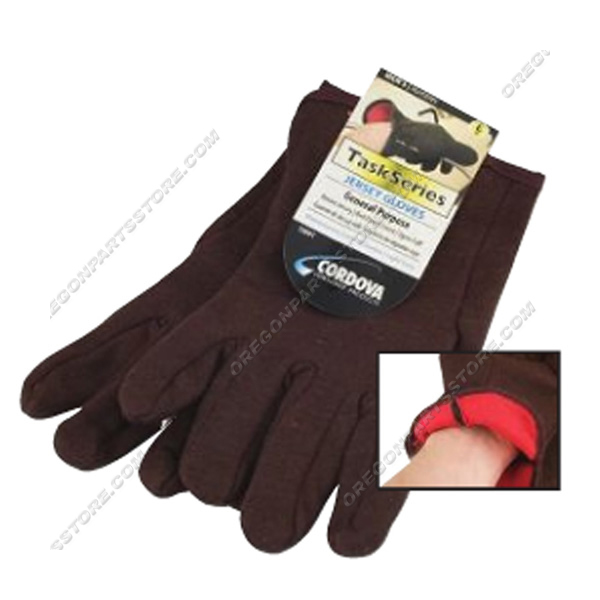 Cordova Cotton Jersey Red Lined Gloves, QTY.12 / F16001